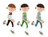 Cartoon Boys - isolated over white background