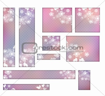 Floral button and banner collection
