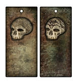 Halloween tags or bookmarks with sculls