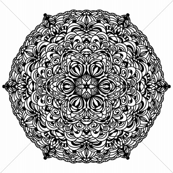 Black detailed ornament