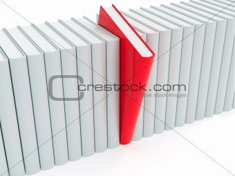 Red book within white ones