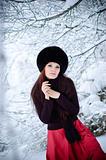 Frozen woman