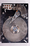 Hard disk drive with smoke