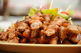 Thai cuisine barbecue chicken skewers