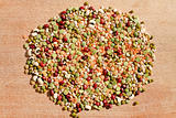 mix of different dry beans for Nonna's Lentil Soup
