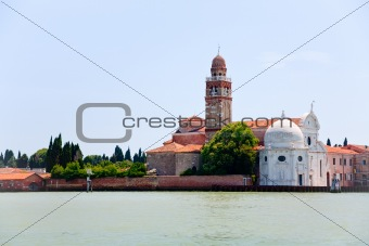 cemetery on San Michele island in Venice