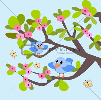 Blossom, Birds and Butterflies