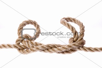 Knot on White Background