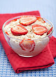 porridge with fresh strawberry