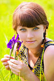 Girl with iris