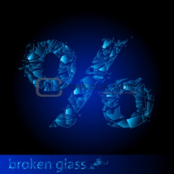 Broken glass  - percentage