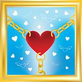 heart in golden chains