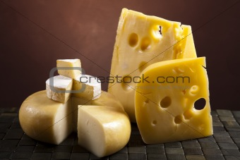 Background of fresh cheese