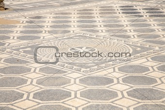 ancient floor with mosaics
