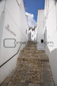 upstairs street at Vejer village