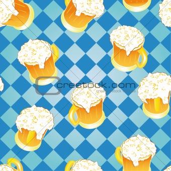 Oktoberfest background. Beer wallpaper.