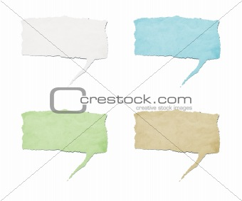 recycled paper speech tag