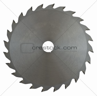 saw blade on white background