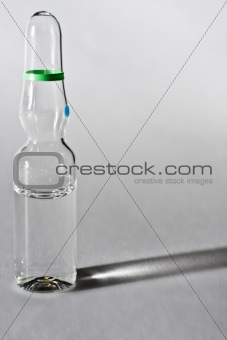 ampoule on gray