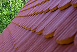 roof tile with part of eaves gutter