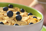 Sweet Corn Flakes with Blueberries