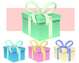 Wrapped Presents - vector illustration