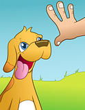 Dog training - vector illustration