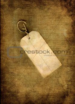 Blank vintage tag