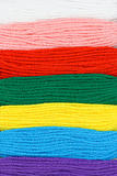 Multicolor embroidery threads background