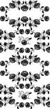 Seamless roses pattern black