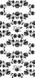 Seamless roses pattern black