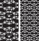 Set of seamless roses pattern, wallpaper