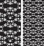 Set of seamless roses pattern, wallpaper
