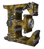 steampunk letter e