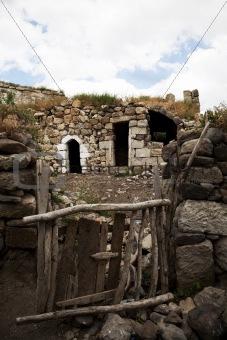 architectural detail of living in Turkish village