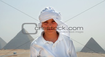 Teenage boy tourist in Egypt