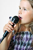 Girl sings a christian song