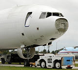 Old broken airplane