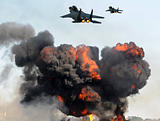 Jetfighters in attack