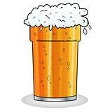 Pint of beer cartoon style