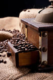 Coffe beans and coffee grinder