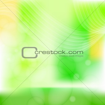 Green and yellow background with white stripes