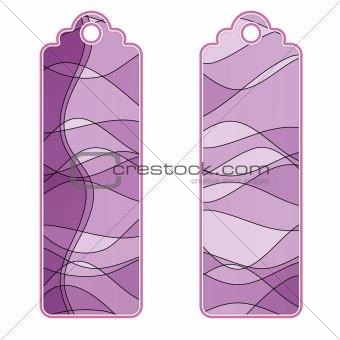 Beautiful tags or labels with different pattern