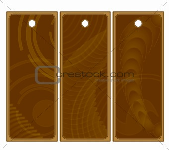 Beautiful abstract brown tags or labels