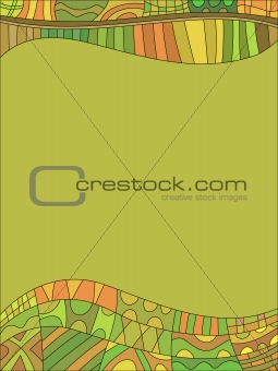 Beautiful green background with pattern