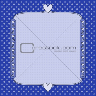 Blue background with hearts