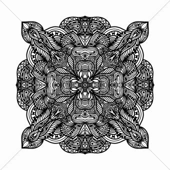 Black detailed ornament