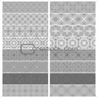 Gray trim or border collection