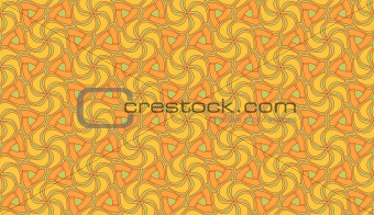 Beautiful orange and green seamless tiling texture