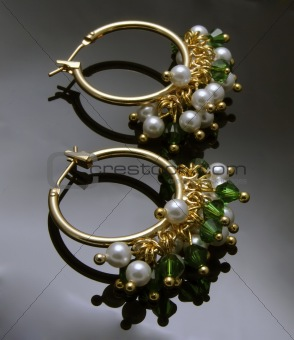 handmade earrings with gemstones